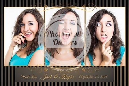 photo booth Black Tie Event Postcard