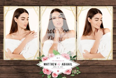 photo booth rustic-floral-geometric-postcard