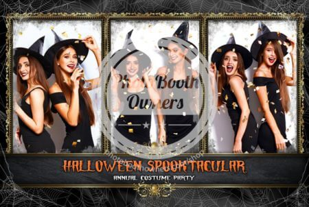 photo booth spooky-celebration-postcard
